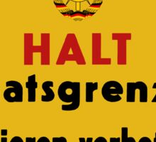 Stop, Country Border!, East Germany DDR Historic Sign Sticker