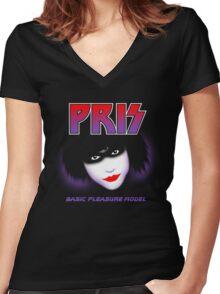 Pris - Basic Pleasure Model Women's Fitted V-Neck T-Shirt
