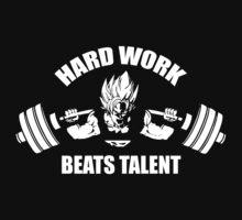 Hard Work Beats Talent - Goku Squat by oolongtees