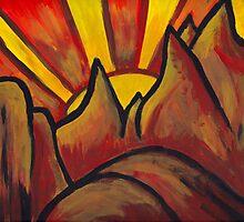 Mountain Sun  by evergleammm