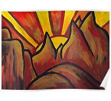 Mountain Sun  Poster