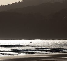 A Grey Day at Byron Bay by John Sharp