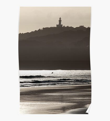 A Grey Day at Byron Bay Poster