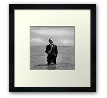 A glass of contemplation. Framed Print