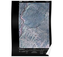 USGS Topo Map Washington State WA Keystone 20110503 TM Inverted Poster
