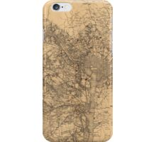 Military Map of N.E. Virginia Showing Forts and Roads (1865) iPhone Case/Skin