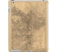 Military Map of N.E. Virginia Showing Forts and Roads (1865) iPad Case/Skin