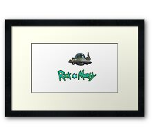 Morty-Rick Framed Print