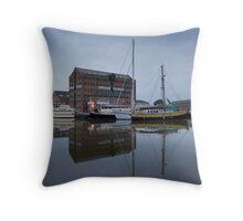 6am Gloucester Docks, Gloucester Throw Pillow