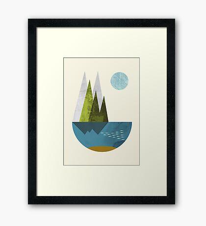Earth, geometric print Framed Print