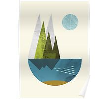 Earth, geometric print Poster