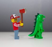 A lego Chase by Jonathan Oakley