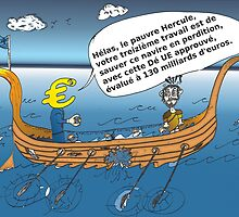 caricature options binaires - Le 13em Travaux d'Hercule by Binary-Options