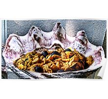 Tridacna Gigas with Cornflakes and Blueberries Poster