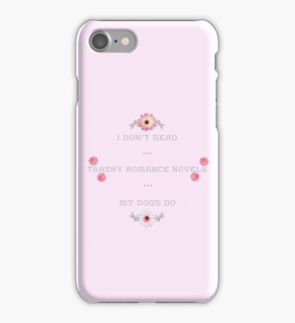 Trashy Romance Novels - Floral Dog Edition iPhone Case/Skin