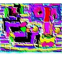 Brick Art Photographic Print
