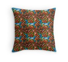 Baby turtles tiled Throw Pillow