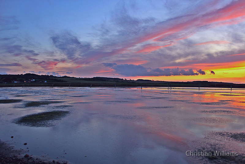 Sunset over Salthouse Marshes by Christian Williams