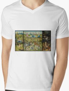 The Garden of Earthly Delights by Hieronymus Bosch (1480-1505) Mens V-Neck T-Shirt
