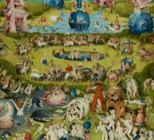 The Garden of Earthly Delights by Hieronymus Bosch (1480-1505) Sticker