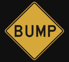 Bump, Traffic Warning Sign, USA One Piece - Short Sleeve