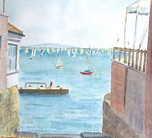 Between Houses, Cowes by HurstPainters