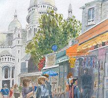 Montmartre, Paris by HurstPainters