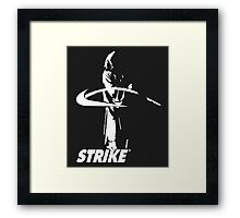 STRIKE NIKE (dark backgroung) Framed Print