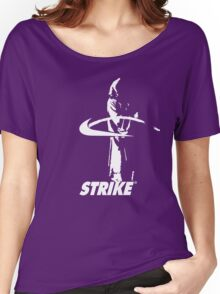 STRIKE NIKE (dark backgroung) Women's Relaxed Fit T-Shirt