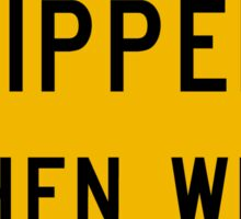 Slippery When Wet, Traffic Warning Sign, USA Sticker