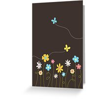 Funky Spring Flowers (card version) Greeting Card