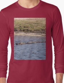 Alligator in the Water Long Sleeve T-Shirt