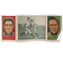Benjamin K Edwards Collection David Shean Frank L Chance Chicago Cubs baseball card portrait Poster