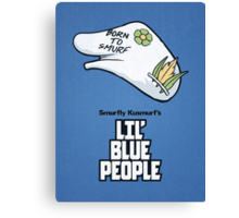 Lil' Blue People Canvas Print