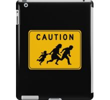 Caution at Crossing, Traffic Warning Sign, USA iPad Case/Skin