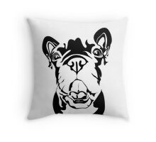 French Bulldog Graphic Translation Throw Pillow