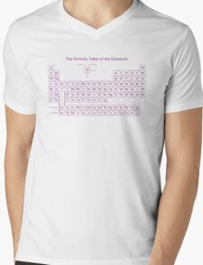 Periodic Table of the Elements - Purple Mens V-Neck T-Shirt