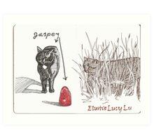 Jasper/Lucy Lu Art Print