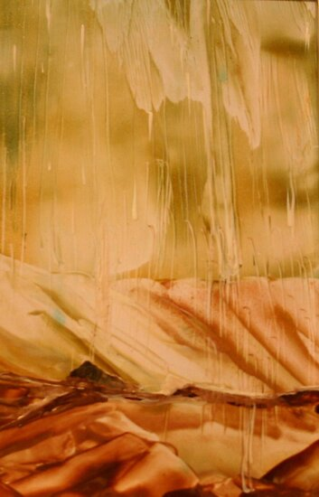 Rain - Encaustic Painting by Loreen Finn