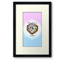 Friendship is magic Framed Print