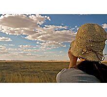 Scanning the plains of Serengeti Photographic Print