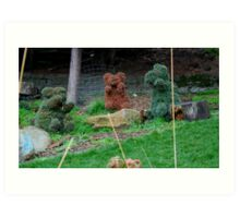 Three Bears at Play Art Print