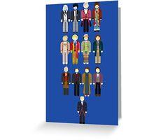 Doctor Who Minimalist Greeting Card