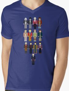 Doctor Who Minimalist Mens V-Neck T-Shirt
