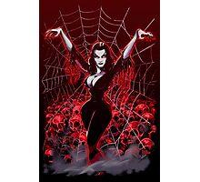 Vampira Spider web gothic Photographic Print