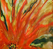 Fire Dance - Encaustic Painting by Loreen Finn