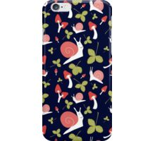 Snails and mushrooms iPhone Case/Skin