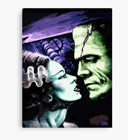 Bride & Frankie Monsters in Love Canvas Print
