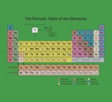 Periodic Table of the Elements  One Piece - Short Sleeve