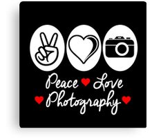 peace love photography Canvas Print